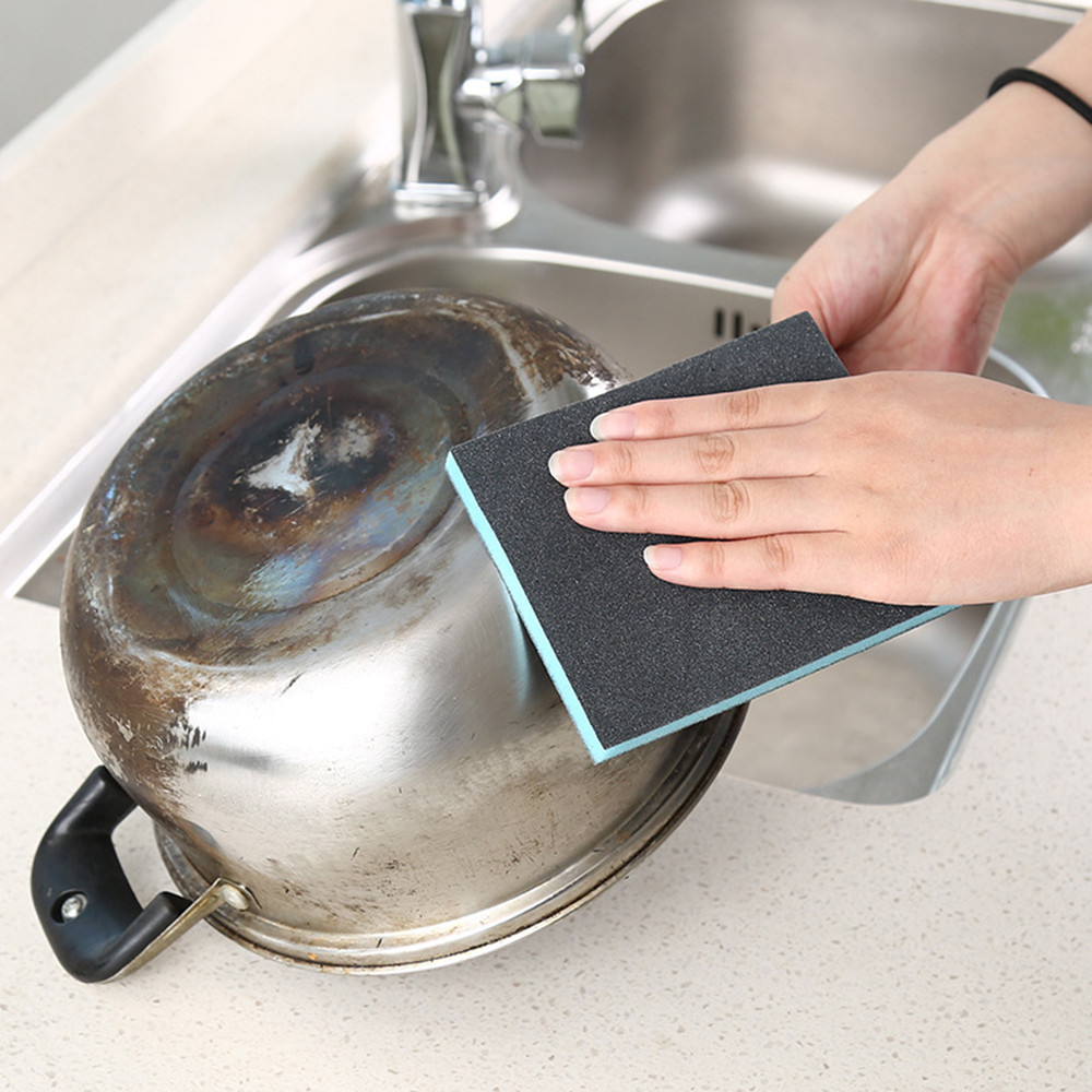 New Arrival Fashion 2018 12cm x 10cm x 1.3cm Kitchen Nano Emery Magic Clean Rub Pot Rust Focal Stains Sponge Removing Kit Hot#35