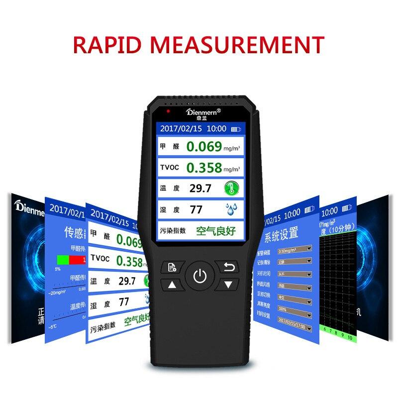 Formaldeyde Detector HCHO TVOC Gas Analyzer With Temperature Humidity Meter Gas Detector Thermometer HygrometerFormaldeyde Detector HCHO TVOC Gas Analyzer With Temperature Humidity Meter Gas Detector Thermometer Hygrometer