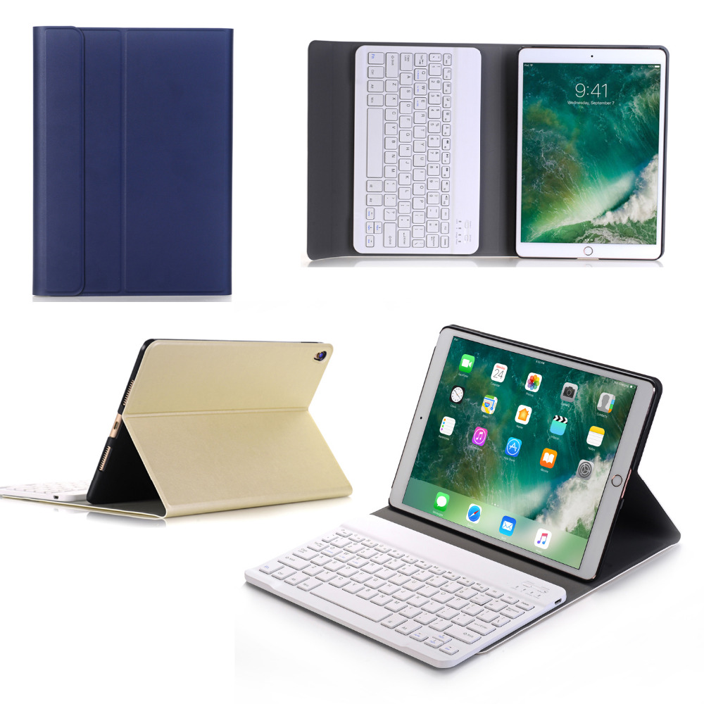 Russian/Hebrew/Spanish Removable Wireless Bluetooth Keyboard Stand PU Leather Case Cover For Apple iPad Pro 10.5 10.5 Tablet aluminum keyboard for ipad 2017 air2 tablet case ultra thin stand removable wireless bluetooth pu leather for ipad pro 9 7 cover