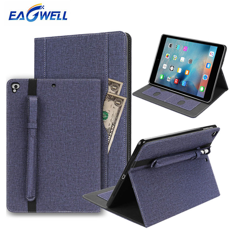 For iPad Air 2 Air 1 Case Tablet Flip Case Stand Smart Cover with Pencil Holder Slot for iPad 9.7 2017 2018 2016 Case Protector