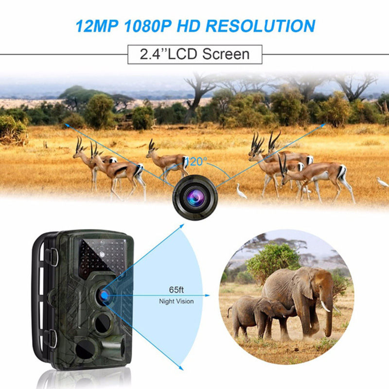 HC800A Hunting Trail Camera Full HD 12MP 1080P Video Night Vision Camera Trap Scouting Infrared IR Trail Camera Trap hd 12mp trail camera 1080p video
