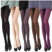 2017 Hot Women Sexy Pantyhose Autumn Winter Nylon Tights 120D Velvet Candy Color Stockings Step Foot