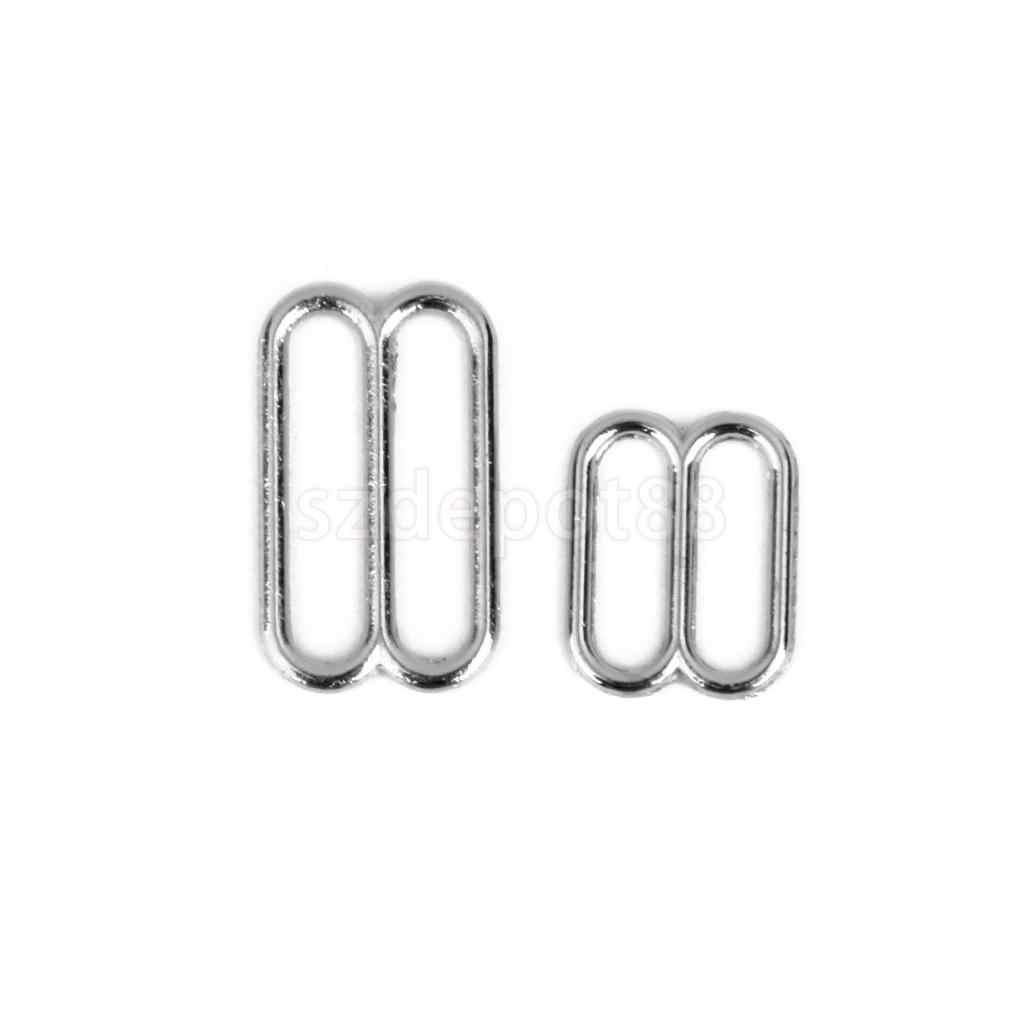 Spmart 8 Berbentuk Pakaian Dalam Wanita Disesuaikan Jahit Bra Cincin Gesper 14 Mm 100 Buah Perak