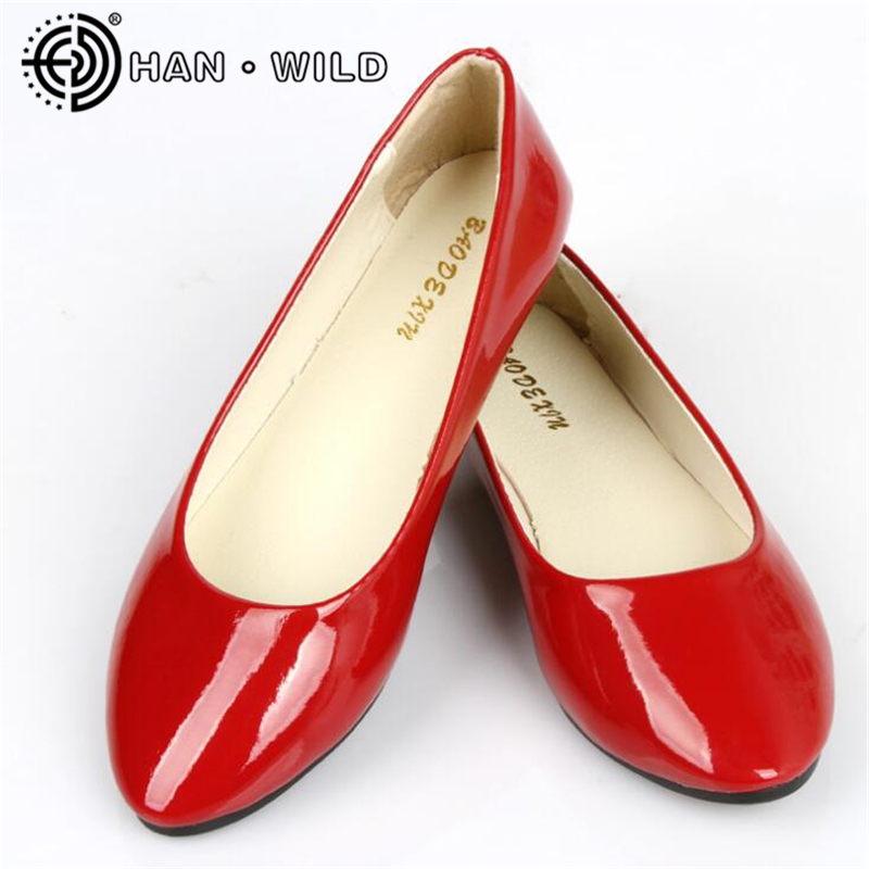 2020 Leather Flat Shoes Pointed Toe Woman Loafers Spring Autumn Casual Shoes Women Flats Candy Color Sweet Flats Plus Size 35-42