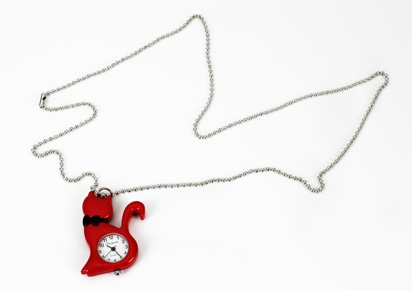 Nieuwe mode vrouwen kat ketting horloges steampunk hanger zak charme - Zakhorloge - Foto 5