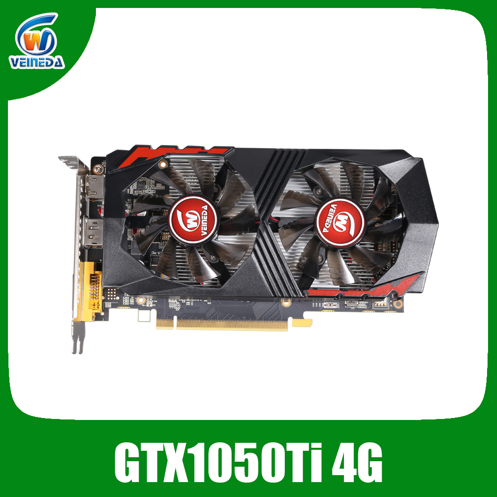 Placa de Vídeo Veineda GTX1050Ti 4 GB 128Bit 1290/7000 MHz Cartão de Gráficos para nVIDIA Geforce Jogos