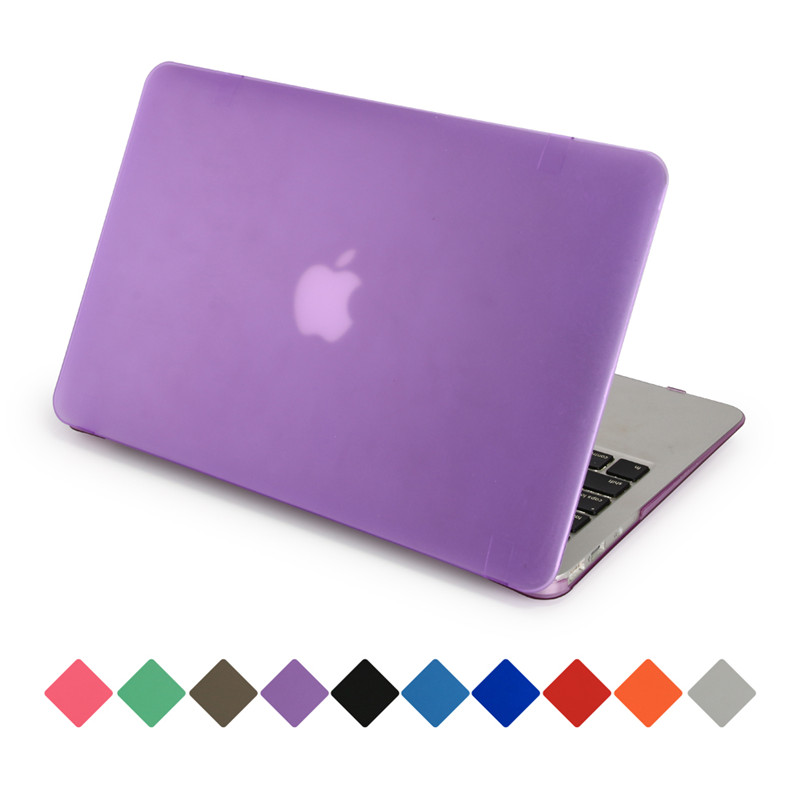 for macbook pro 13 retina 15 air 11 12inch case full protect hard pc fashion color purple matte transparent laptop cases
