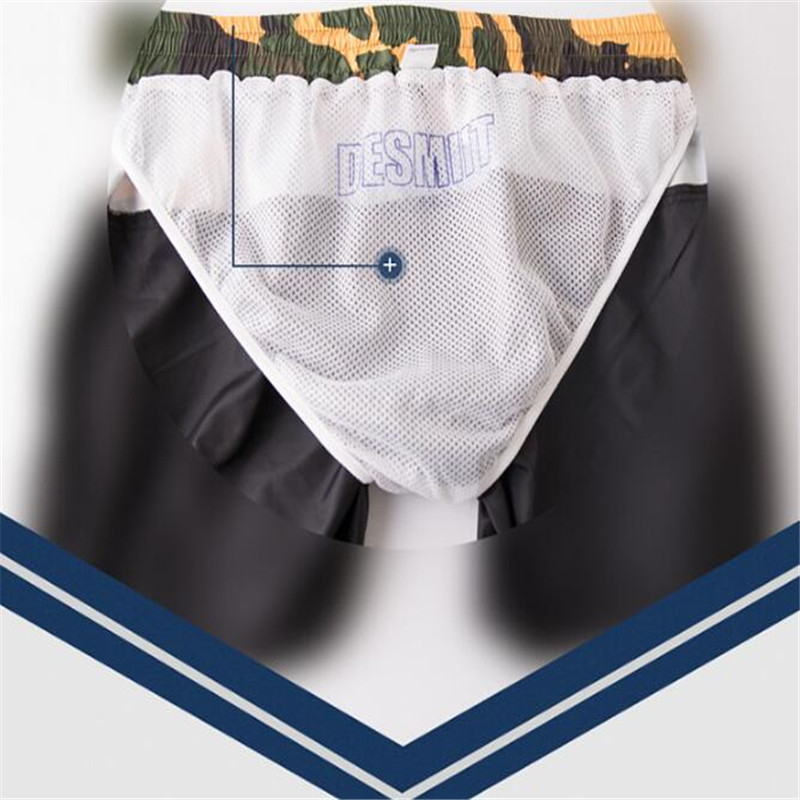 Topdudes.com - Men's Camouflage Sexy Breathable Light Patchwork Short Beach Pants