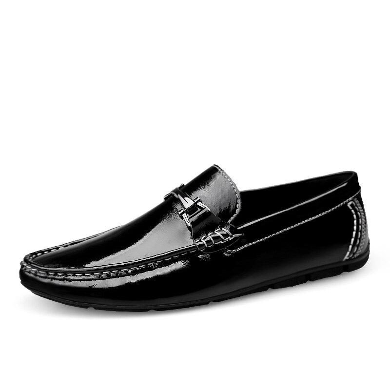 Mocassins De Confort Véritable Material Chaussures none Sur Marque none Sepatu Lining Bateau Glissement Luxe Homme Plat Mode Material Pria En Cuir Mycoron Haut lining Hommes qPvfxwEgt