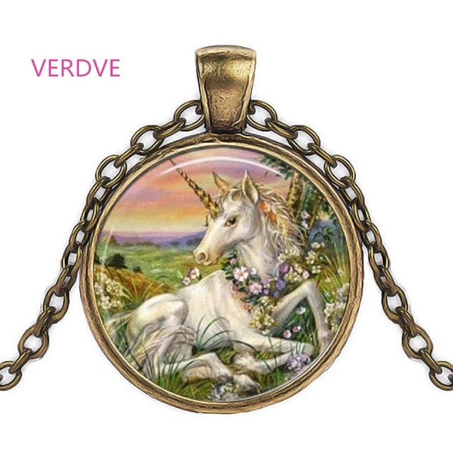 Necklace Unicorn Photo...