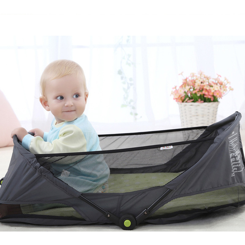 Multifunctional portable crib newborn travel bed foldable simple bed car cradle