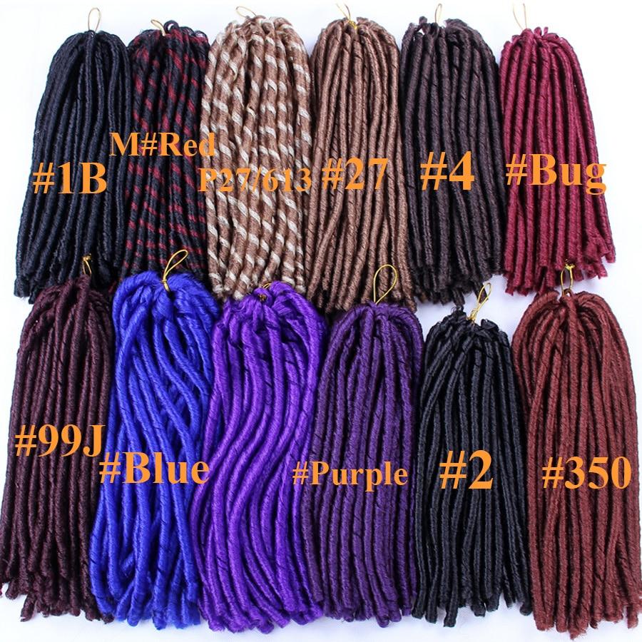 FALEMEI Crochet Braids Hair Extensions Dreadlocks synthetic 70g Soft Dread Crochet Braid Hair 14inch Kanekalon Fiber