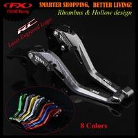 3D Design ( Rhombus Hollow) Titanium CNC Adjustable Motorcycle Brake Clutch Lever For KTM RC390 RC 390 2013 2017 2014 2015 2016