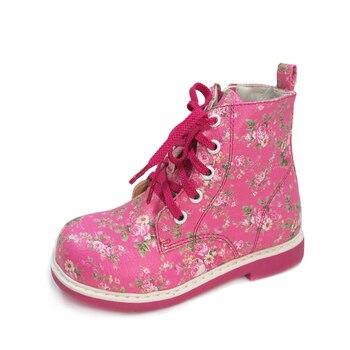 Zapatos Ortopédicos Para Bebés | Zapatos Casuales De Cuero Para Bebés Y Niñas Zapatos Ortopédicos Para Niños Con Cordones Zapatos De Bota De Otoño E Invierno De Primavera Con Patente Floral Blanca