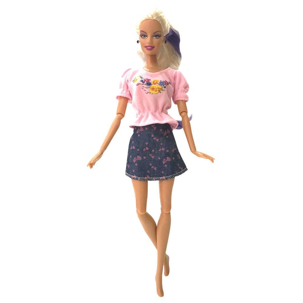 Nk 2020 mais novo boneca nobre roupa bonita artesanal festa roupas topo moda saia denim para barbie boneca melhor criança meninas presente