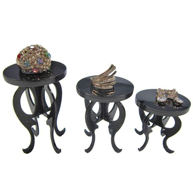 Акриловая подставка для ювелирных изделий, 3 шт./компл., кольцо, серьги, серьги, браслет, демонстрация полки, подставка для хранения украшений