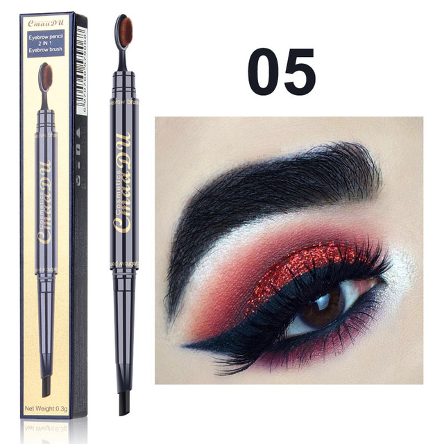 2 IN 1 Eyebrow Maquiagem Profissional Completa Double-head Pencil for Eyes Durable Waterproof Not Flowering Easy To Color TSLM1 3