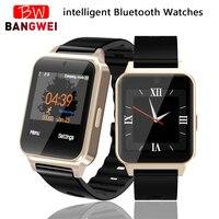 2019BANGWEI Mens Smart Watches Waterproof Sport Pedometer Clock LED Large Screen Digital Watch Touch Screen Support TF SIM Card