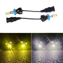 цена на 2pcs 24W LED Car Headlight Bulbs Car Fog Light 6500K White Gold Light H8/H11/9005/9006/H10 Auto LED Light Lamps
