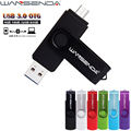 De alta Velocidad USB 3.0 Android OTG USB Flash Drive Pen Drive 8 gb 16 gb 32 gb 64 gb Memory Stick U Disco WANSENDA D100 Externa almacenamiento