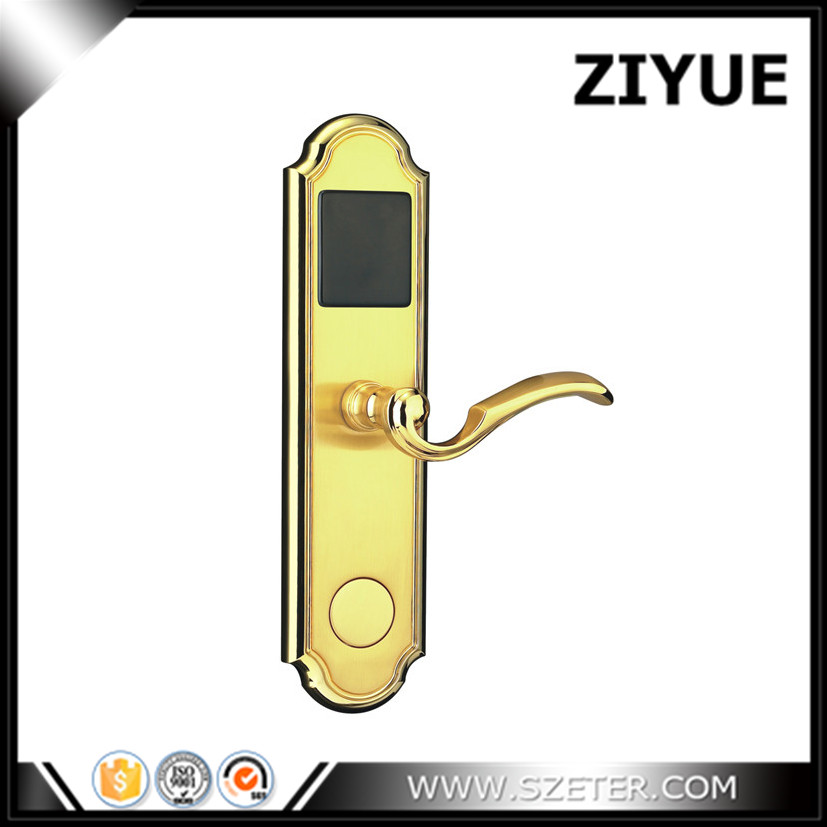 hotel rfid door lock rfid 13.56mhz hotel door security lock   with software and key  ET300RF hotel lock system rfid t5577 hotel lock gold silver zinc alloy forging material sn ca 8037