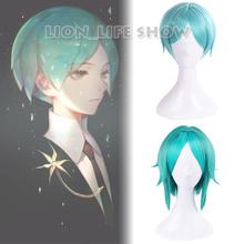 Anime Houseki no Kuni Land of the Lustrous Phosphophyllite Cosplay Wig Green Short Hair 2 Version