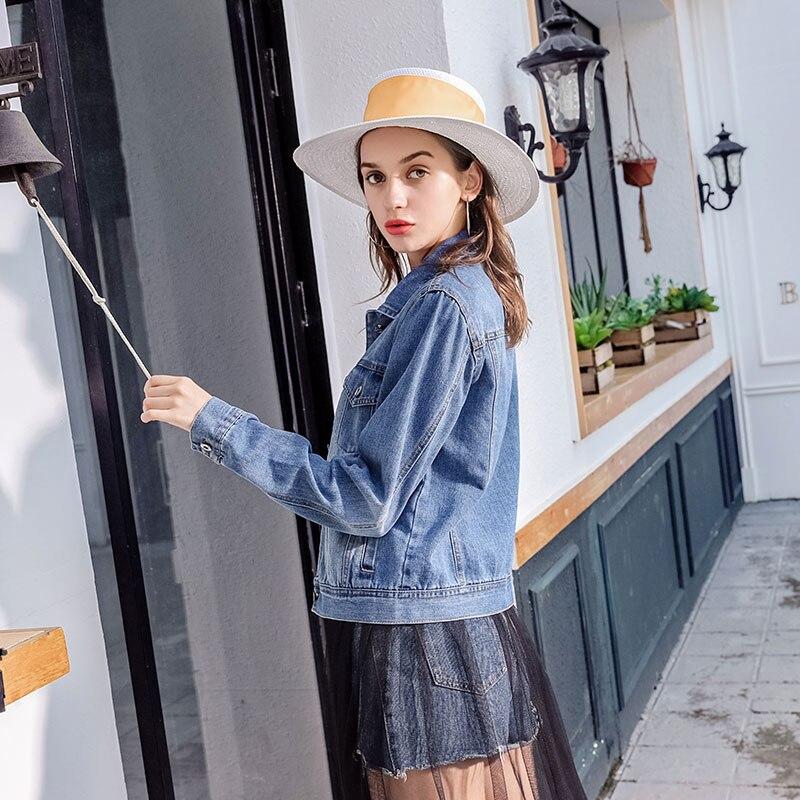 Denim Dames Chaquetas Vintage Jeans Outwear 2018 Haute Automne Femmes De Veste Vestes Qualité Mujer Manteaux Bleu vent Vêtements Coupe qxtgzw