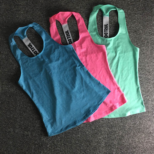 Women Sleeveless Fitness Vest  Exercise Workout Sports T-Shirts Fitness Running Sport Vest Yoga top Gym Clothing T-Shirt 4