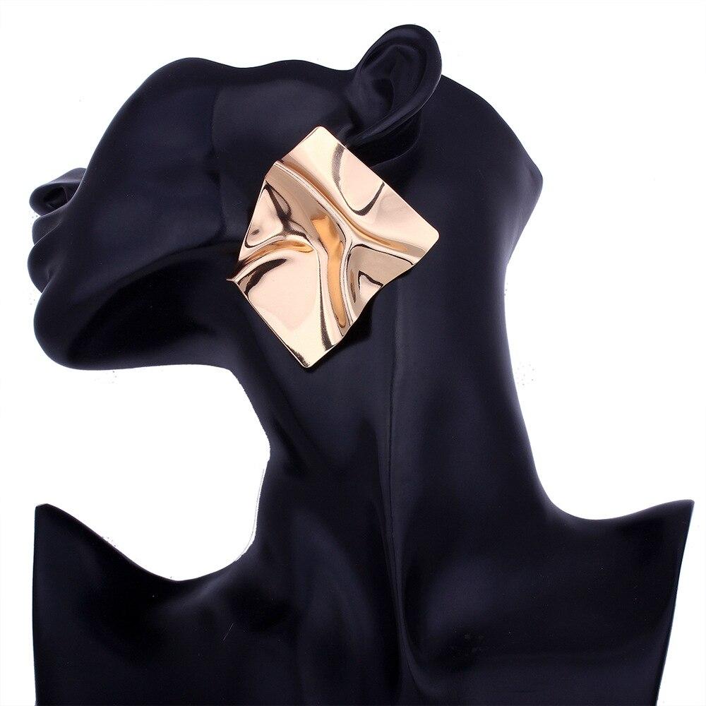 Metal stud Earrings 2018 Big Geometric earrings For Women bold statement earrings 2018 Modern Art party punk earing jewelry gold big circle geometric statement stud earrings