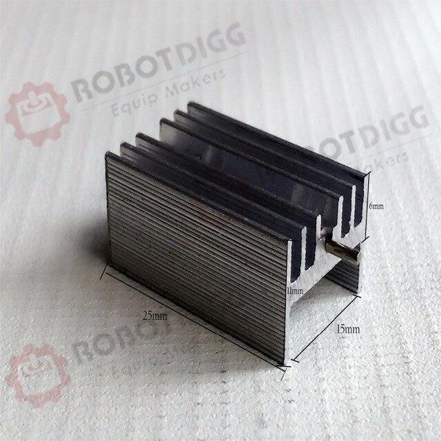10pcs/lot  25mm length 15mm width 11mm height   High Quality Super Heat Conduction Aluminum Silver Heatsink with Needle