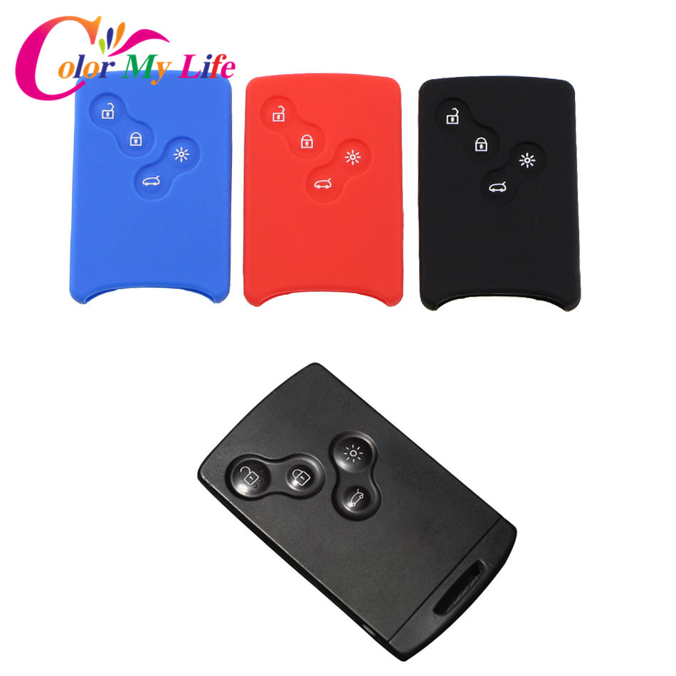 Hot Car Key Protective Holder Case Cover for Renault Koleos Laguna 2 3 Megane 1 2 3 Sandero Scenic Captur Clio Duster Fluence 2 x car door light ghost shadow welcome light logo projector emblem for renault megane 2 duster logan clio laguna 2 koleos
