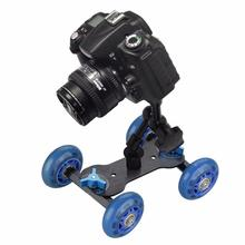 2 in 1 DSLR Mini Camera Video Car Skater Photograph Rail Rolling Track Slider Skater Table Dolly Car +7″ Magic Arm for Cameras