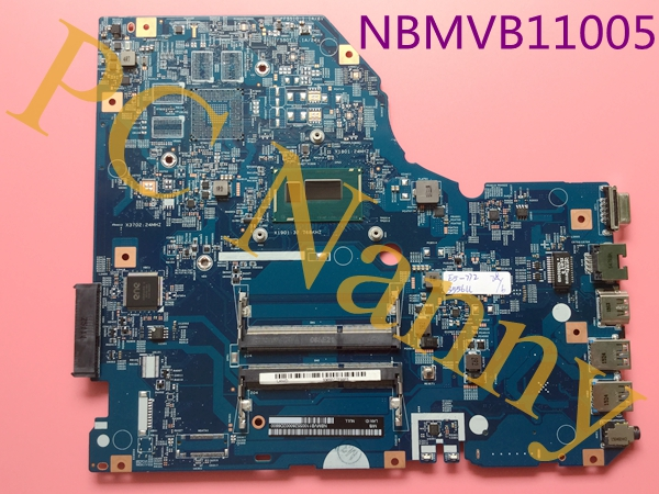 NBMVB11005 For Acer Aspire E5-772 Motherboard System board Pentium 3556U / 1.7 GHz 17.3 LED Notebook Intel HD Graphics DDR3L