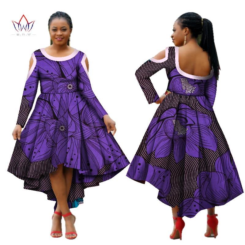 Plus la taille Maxi Dashiki O-cou travail robes 2017 à manches longues pour les femmes dans africain Dames vêtements parti robe 4xl d'autres WY1545
