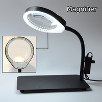 Desktop 8X Magnifier LED Desk Lamp Lighting Loupe Multifunction Magnifying Glass For Reading/repair