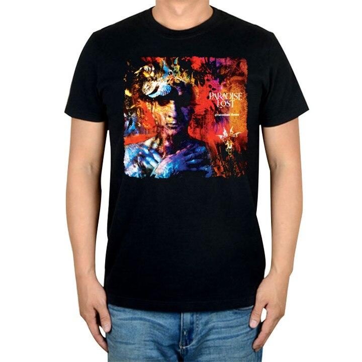 14 видов иллюстрации Райский Lost Rock брендовая футболка панк готический Металл черные рубашки уличная Harajuku искусство картины camiseta - Цвет: 9