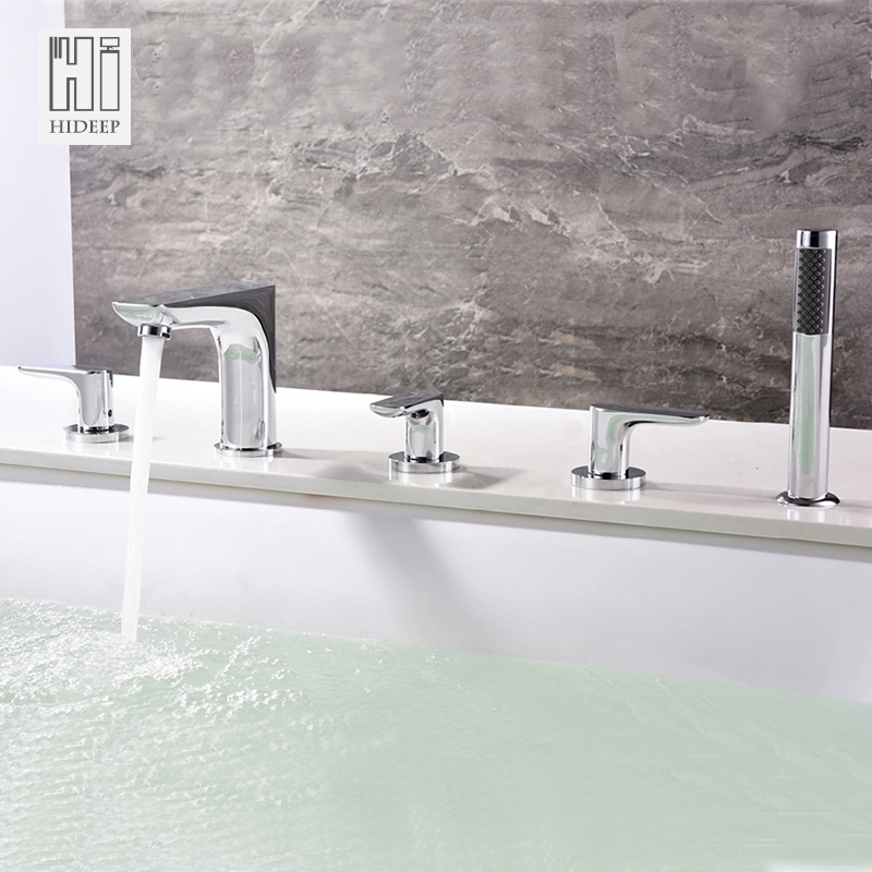HIDEEP Simpledesign, Bathtub Faucet, All Copper Hot And Cold Cylinder Side And Split Sho ...