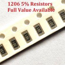 Résistance à puce SMD 300 1206 K/8.2K/10K/11K/12K/Ohm 9.1 5%/8.2/10/11/12/K 8K2 9K1, 9.1 pièces/lot, livraison gratuite