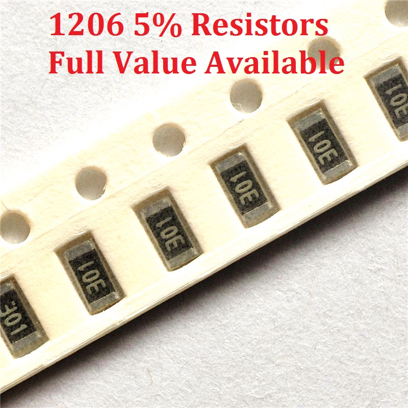 300 unids/lote resistencia SMD de tipo Chip 1206, 8,2 K/9,1 K/10 K/11 K/12 K/Ohm resistencia de 5%/8,2/9,1/10/11/12/K resistencias 8K2 9K1 envío gratis
