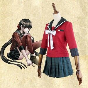 Image 5 - Yeni 6 adet Danganronpa V3 öldürme Harmony Harukawa Maki okul üniforması kadın kız Cosplay kostüm seti ve peruk cadılar bayramı kostüm