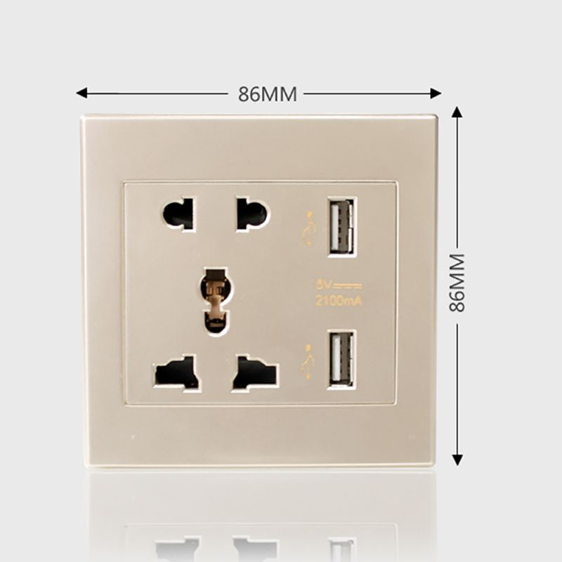 Fuse Box Usb Wall Charger : Dual usb port electric wall charger dock socket power