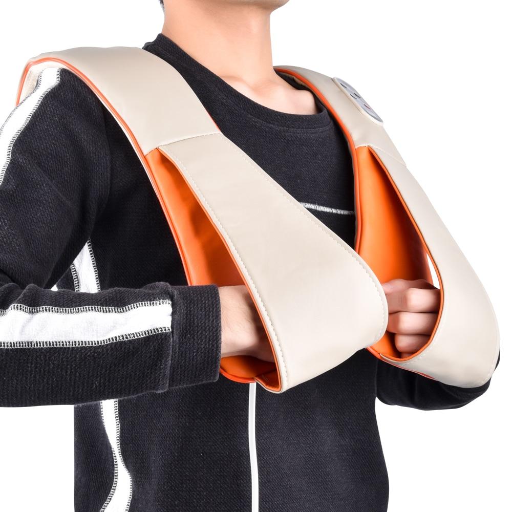 Health Care U Shape Knock Back Massage Shawl Pain Relief Body Relaxing Cervical Neck Shoulder Knocking Massager With EU Plug