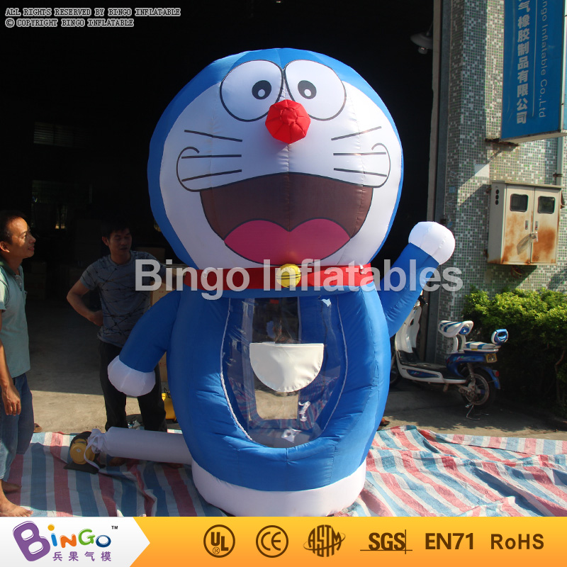 Promotion!! Inflatable Doraemon Cash Machine Inflatable Money Catching game with free air Blower Free Delievery inflatable game
