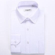 Nuovi Arrivi 2018 Manica Lunga da Uomo Camicie eleganti Affari Casual Camicia Bianca Uomo Classic Fit Wedding Camicia Camisa Masculina