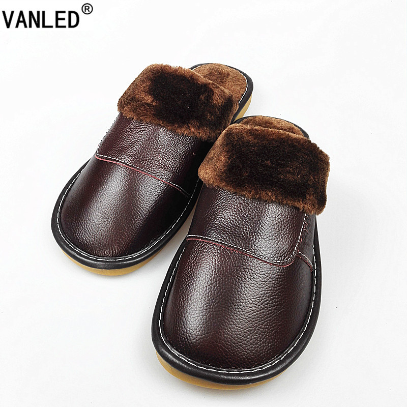 VANLED New Fashion Winter Leather Home Slippers Men Indoor Floor Outdoor Slippers Warm Cotton Plush Non-slip Flat Shoes MJ-005 10w 12w ultra violet uv 365nm 380nm 395nm high power led emitting diode on 20mm cooper star pcb