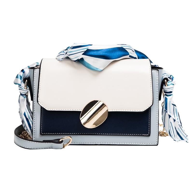 Hot Classic Small Flap Women Bag With Silk Strap PU Leather Handbags Lady Messenger For Female Bolsas M0238