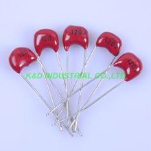 10pcs 5mm 120pF 500V Silver MICA Capacitor Radial Amp For Guitar Amplifier Radio