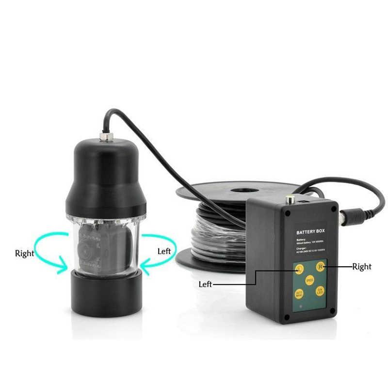 Рыболокатор 7 дюймов монитор 20 м кабель Водонепроницаемый 360 градусов Поворот подводная рыболовная камера система