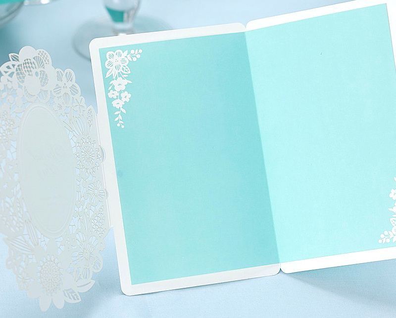 50Pcs Summer Blue Sea Theme Invitations For Wedding Prinable Blank Cards Paper Laser Cut Convites De Casamento In From Home Garden On