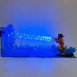 La bola del dragón del lámpara hijo de Goku Kamehameha Lampara escena de Goku de Dragon Ball Z lámpara de noche con luz LED lámpara de escritorio